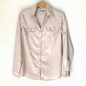 Columbia Button Up Shirt Omni Shade Long Sleeves M